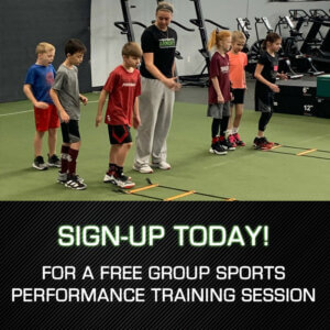 sign-up today for a free group sports performance training session.